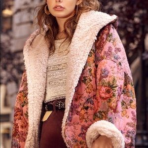 ISO!! UO Beatriz reversible cozy coat teddy floral